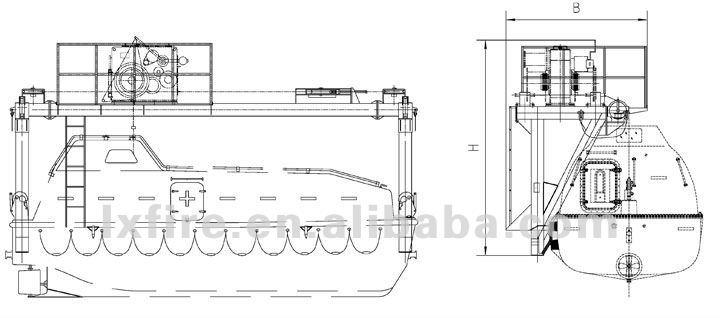 Hot Sale Offshore Platform Rescue Boat Davit Pd85-175