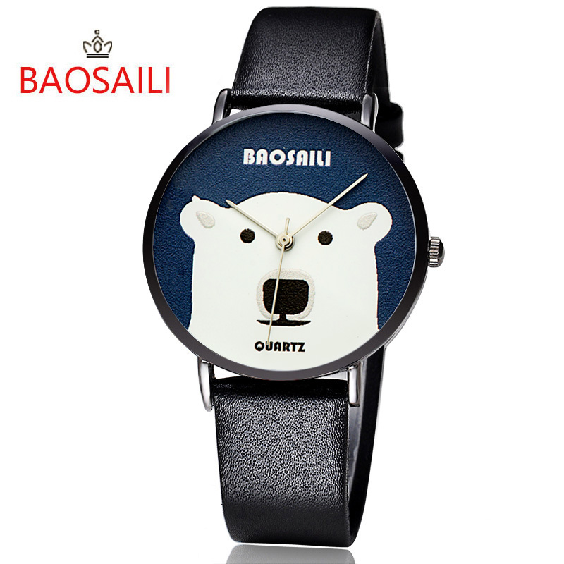 bear polar international watch black automatic dial watches poljot