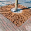 Square round metal corten steel driveway tree grating for sale