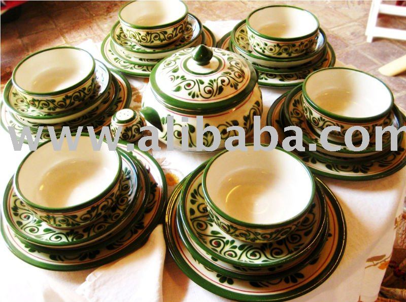 Mexican Traditional Handcrafted Dinnerware Set By Native Woman Organizations - Buy Handcraft Dinnerware Plates Product on Alibaba.com & Mexican Traditional Handcrafted Dinnerware Set By Native Woman ...