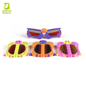 Cartoon Deformable Ladybugs Kids Glasses Crazy Make-up Party