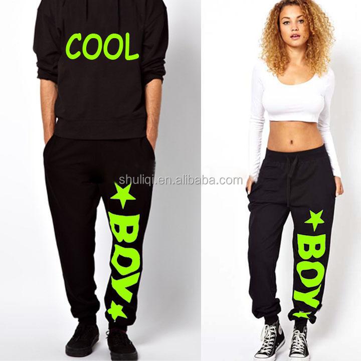 fa2ea3e4ba3e6 Fluorescencia color serigrafía diseño gráfico hip hop Dancing pantalones  ropa baggy Let ...