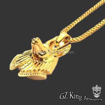 Custom logo18k gold plated anubis piece pendants men necklace custom logo18k gold plated anubis piece pendants men necklace jewelry aloadofball Images