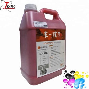 cheap e-jet orginal Xaar/konica/spt solvent ink for printer in guangzhou China