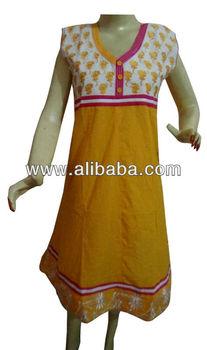 Yellow Color Bollywood Kurti,Indian Women's Wear Kurta,Casual Wear ...