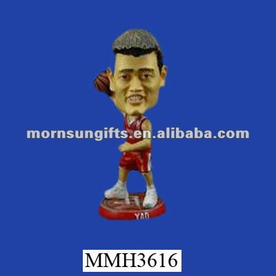 Famous figure Yao Ming resin toy basketball players