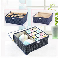 Supply Storage Box Foldable Underwear Grid Storage Box Cloth Oxford Organizer Factory Price