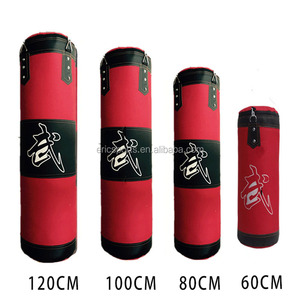 customized logo red blue black 60cm 80cm 90cm 1m 1.2m 1.5m 1.8m canvas Boxing punching bags /dummy sand bag with chain