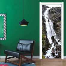 Осень воды DIY наклейки для домашнего декора самоклеющиеся обои на дверь водоотталкивающие обои для спальни ремонт дверей(Китай)