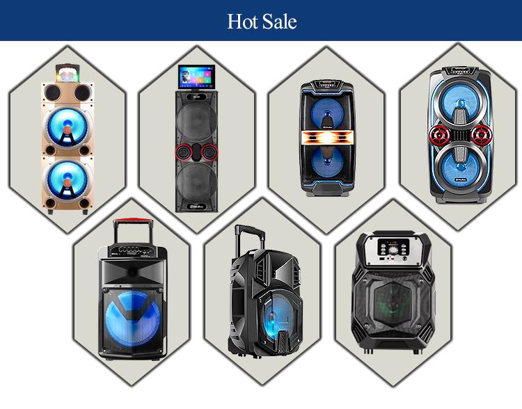 New Arrival Portable 12 Inch Trolley Speaker 100w Karaoke Tower Speaker With Dj Mixer Pa Speaker System