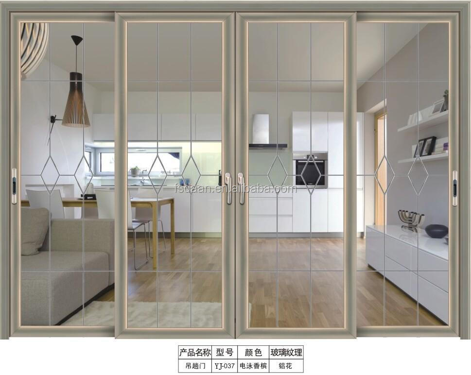 Glass Double Door interior pivot doors luxury aluminum alloy double door metal glass