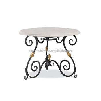 Decorative metal table base rod iron table legs customized round wrought iron table base buy - Decorative metal table bases ...