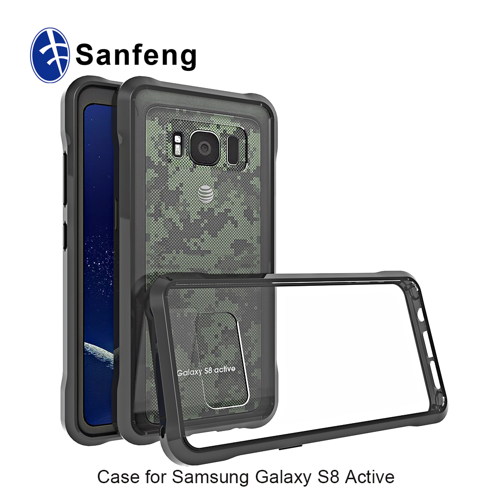 buy online a8862 b2e4d For Samsung S8 Active Bumper Cover Shock-absorption And Anti-scratch Back  Shell - Buy For Samsung S8 Active Bumper Cover,For Samsung S8 Active Back  ...