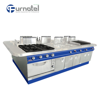 Furnotel Kitchen Equipment For CE Approved Stainless Steel Luxury Central  Cooking Range