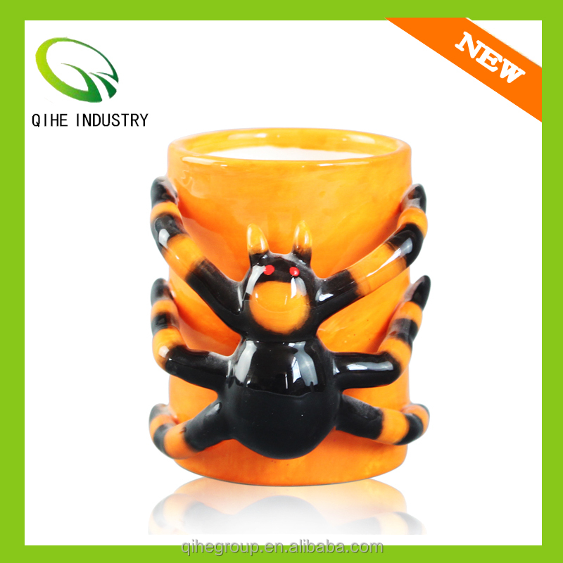 Sale China Manufacturer ceramic yellow mugs with Spider