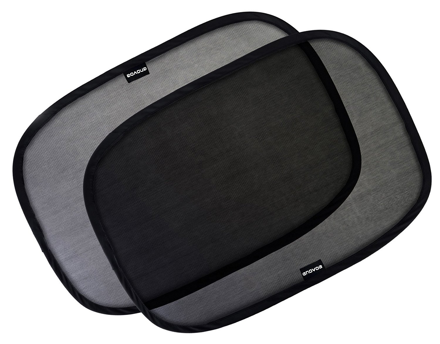 """Car Window Shade - (3 Pack ) - 19""""x12"""" Cling Sunshade For Car Windows - Sun, Glare And UV Rays Protection For Your Child - Baby Side Window Car Sun Shades By Enovoe"""