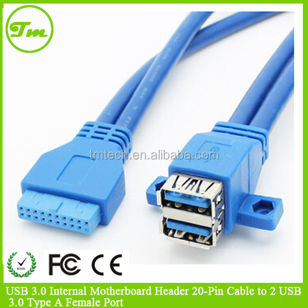Usb 3 0 internal motherboard header 20 pin cable to 2 usb - Is usb 3 0 compatible with a usb 2 0 port ...