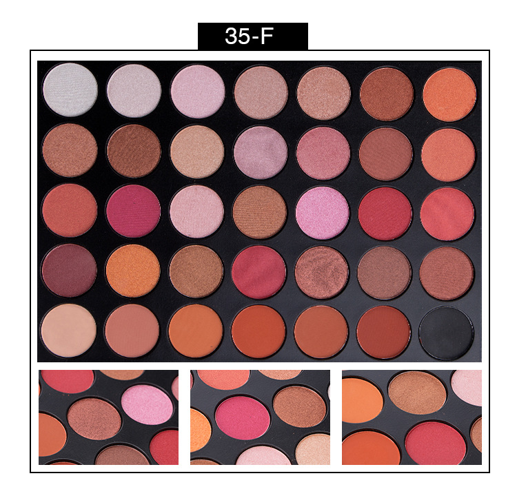 Color cosmetics private label matte naked makeup cosmetic eye shadow 35 color eyeshadow palette