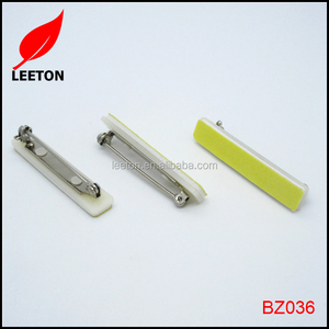 Factory supply adhensive plastic safety pin for ID badge