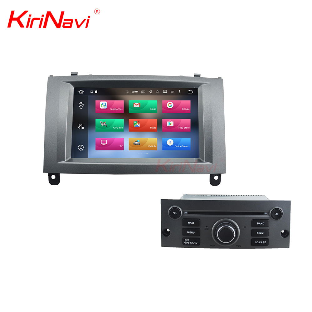KiriNavi WC-PT7407 8 core android 6.0 stereo for Peugeot 407 display screen 2004-2010 BT gps 3g TV