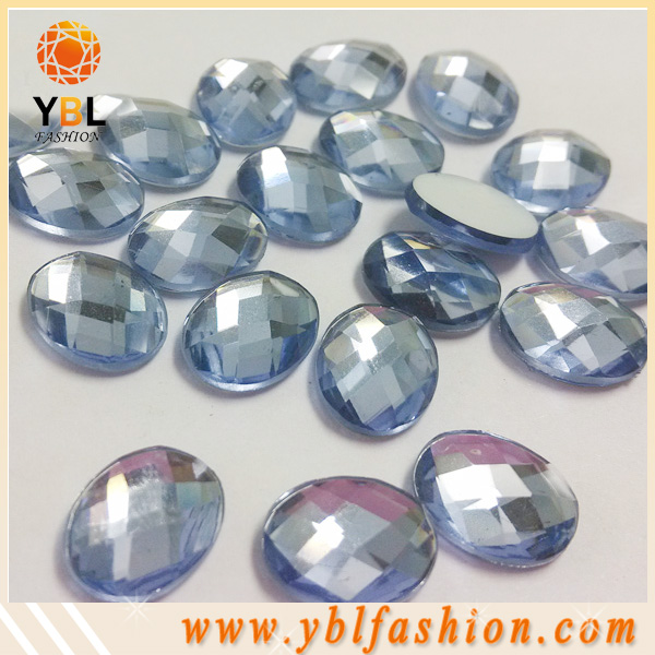 AB Flat Back Non Hotfix Marquise Fancy Crystal Stones Acrylic Rhinestones For Clothes Dress Crafts