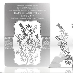 Customized Metal Wedding Invitation Plate Label