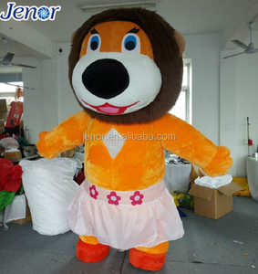 Inflatable Female Lion Costume with Skirt for Wedding Decoration