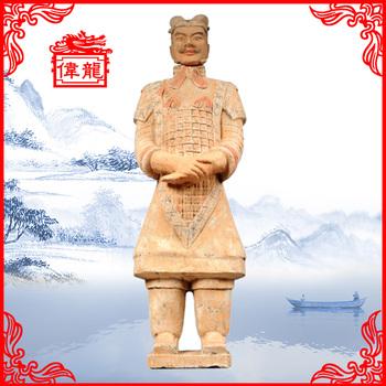 Clay Material Chinese Terracotta Warrior Garden Statue YGF170 1