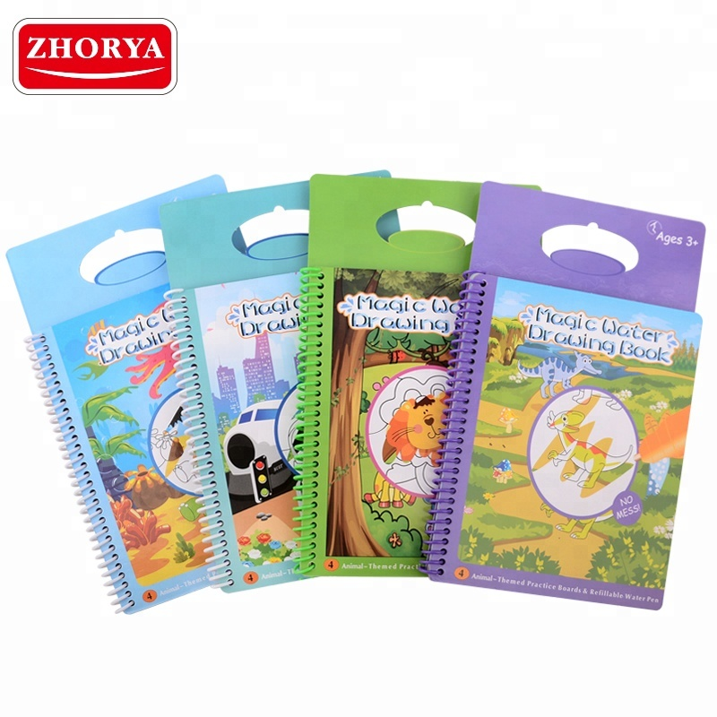 Zhorya Magic aqua spray coloring painting water <strong>books</strong> for kids
