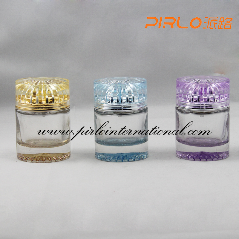 50ml empty Arab perfume glass bottles with crown cap crimp on sprayer OEM manufacturer