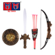 Plastic kids archery toy shield set bow and arrow for sale