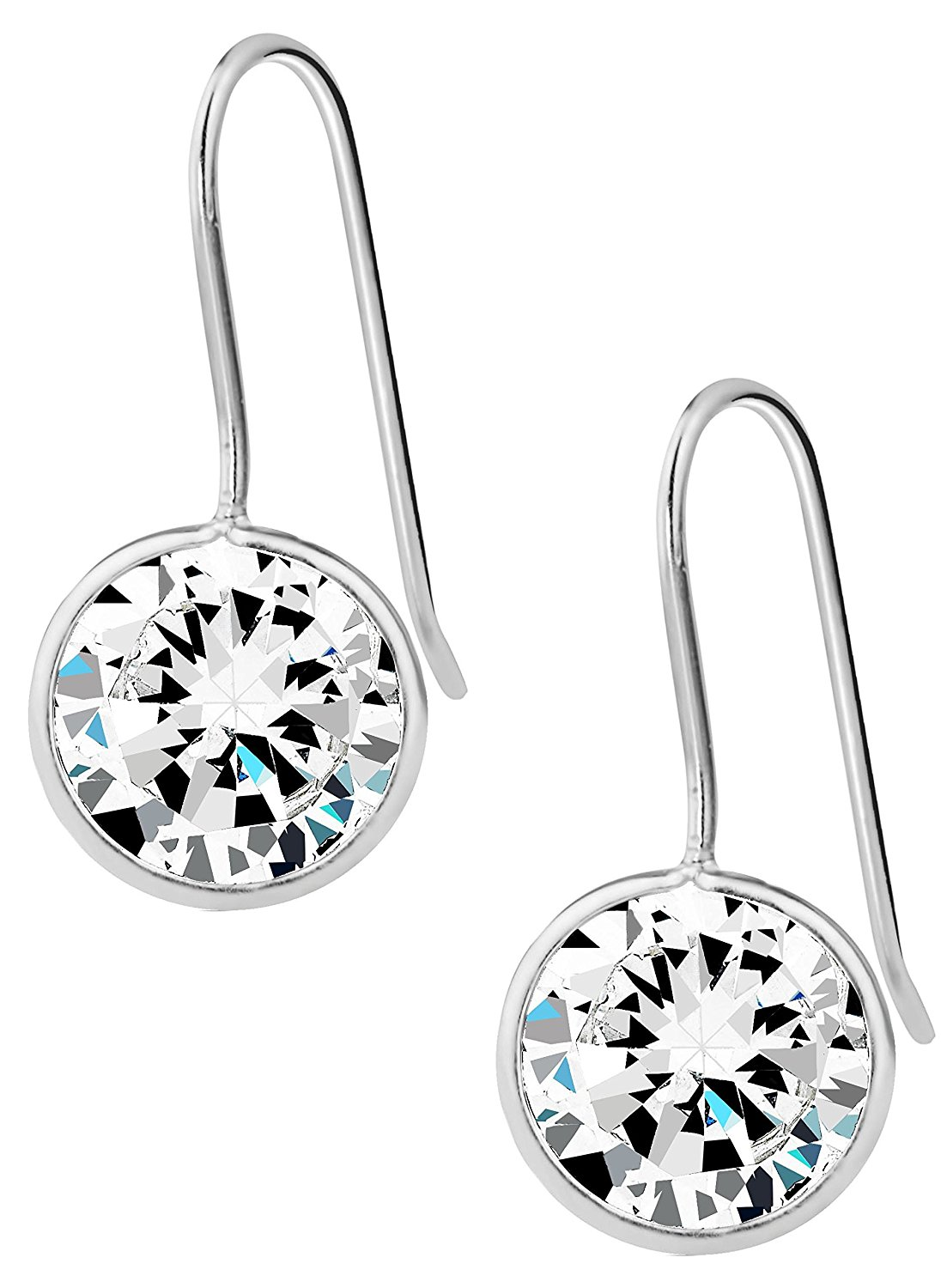 9ee1eb818 Get Quotations · Sterling Silver Hypoallergenic Simulated Diamond 3/8