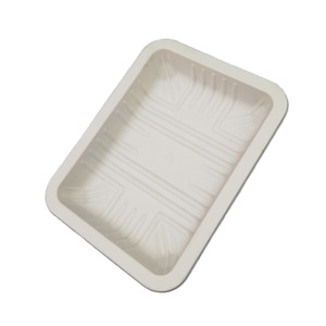 Disposable Biodegradable Corn Starch Plastic Food Trays