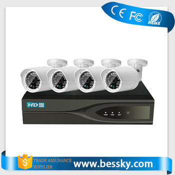 1080P New HD 4ch IP cctv camera kits with NVR and POE security camera system