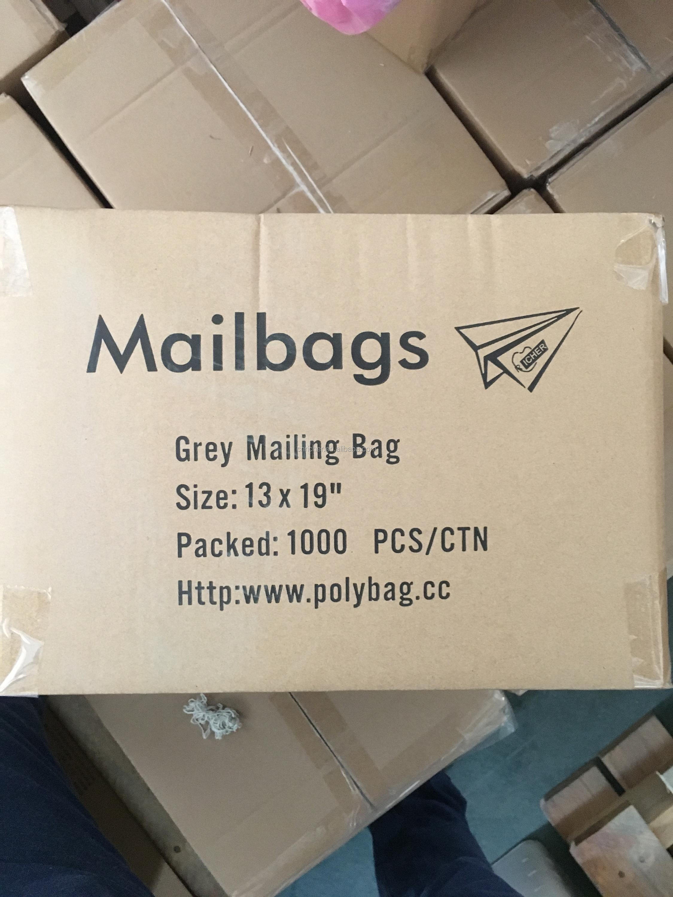 10*14'' Save Postal Cost HDPE Plastic Mailing Bag Grey Color
