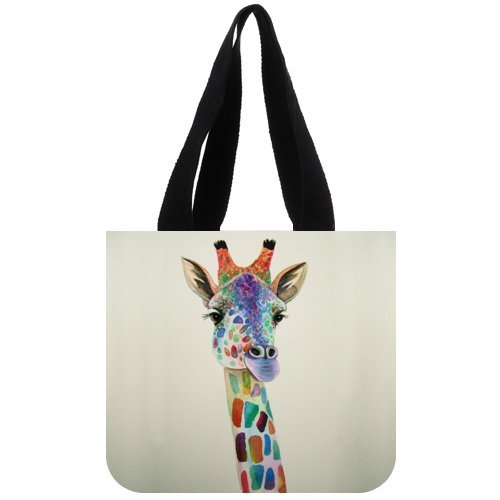 Personolized Custom Printing Recycle Environmental Girraffe Canvas Bags Wholesale