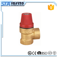 ART.5057 factory manufacture forged brass steam/air/water/gas boiler npt bsp threaded safety diaphragm valve for heating system