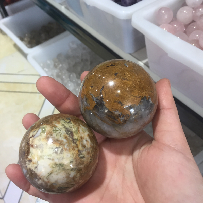 Natural Polished Pietersite Spheres Healing Stone Ball For Home Decor