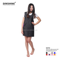 Durable Waterproof PU salon Hairdresser black leather apron