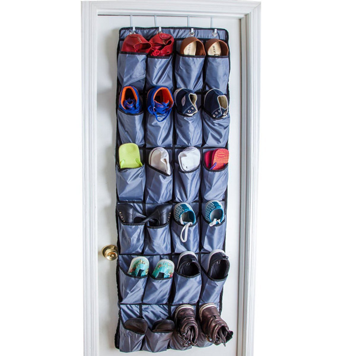 Buy Tresbro 24 Pocket Over The Door Hanging Shoe Organizer Black 1