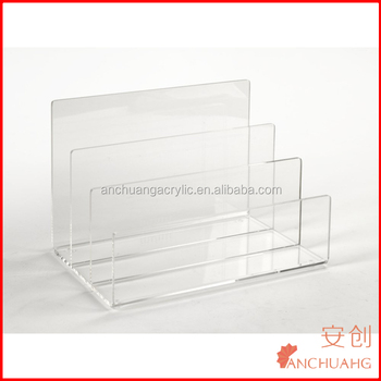 clear acrylic desktop file file sorter