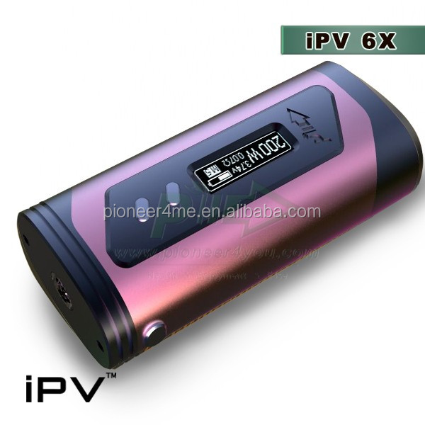 Aibaba factory price ipv box mod e cigarette mod dual 18650 battery health product vaping smoke