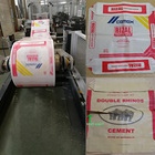 customized printed automatic packing filling plastic raw material cement bag for 25kg 50kg weight