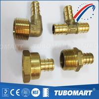 Pex Crimp Fittings US Style Tee Pex Pipe Fittings Factory Pex Crimp Fittings Tee 1/2