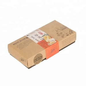Design eco-friendly paper meat pie packaging box