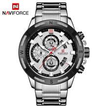 NAVIFORCE Мужские кварцевые часы лучший бренд класса люкс деловые мужские часы модные спортивные хронограф наручные часы с отметкой даты Relogio ...(China)
