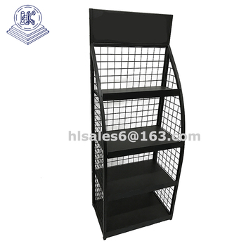 wire mesh display panels motor oil bottle display rack