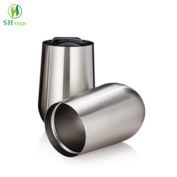 Modern Innovations Stainless Steel Stemless Wine Tumbler 15 Oz Unbreakable Cup BPA Free