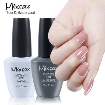 Mixcoco 3 Steps Soak Off Non Wipe Uv Led Top Coat Matte Nail Polish ...