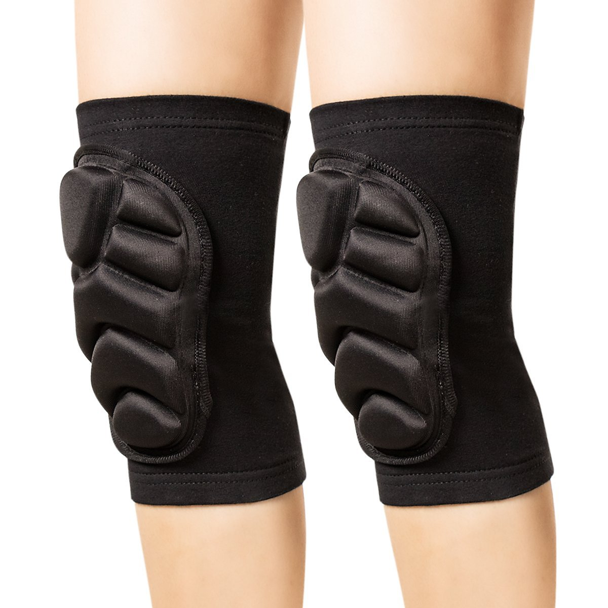 Posher FL6 Knee Pads, (1Pair) Thick Sponge Anti-collision Kneeling Kneepad Support for Outdoor, Climbing, Skating and Sports